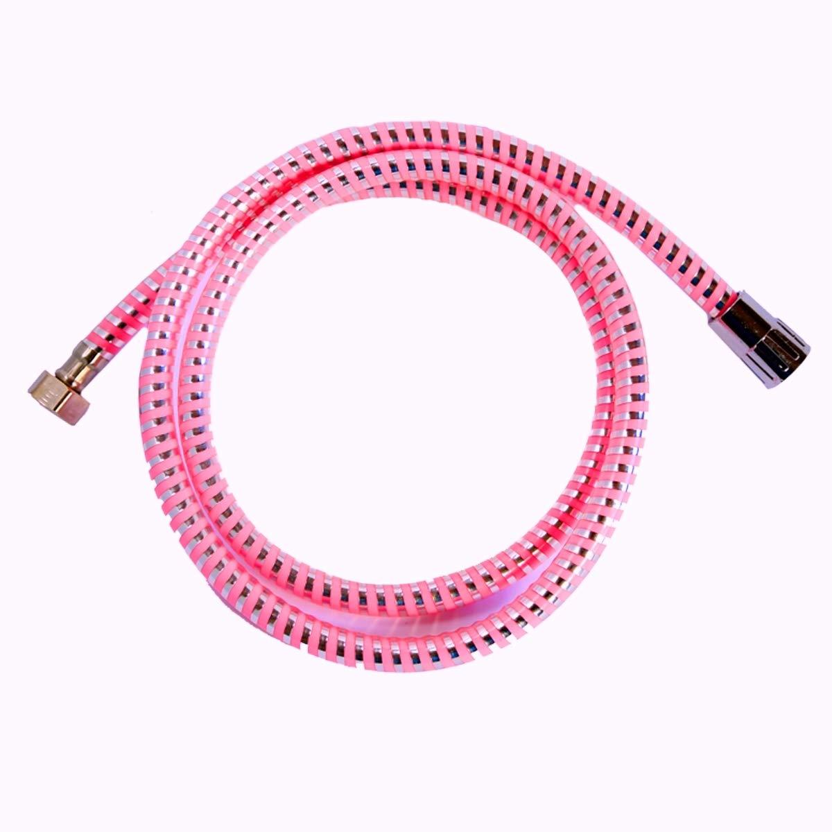 takestop/® Flessibile per Doccia PVC Rosa Acciaio 1.8M 1//2 Tubo ESY/_52895 DOCCETTA MONOGETTO Attacco Universale Bagno