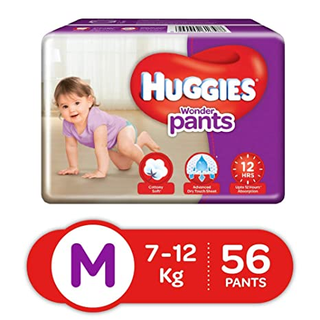Buy Huggies Wonder Pants Medium Size Diapers 56 Count Online At Low Prices In India