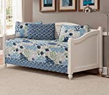 Mk Collection 5pc DayBed Coverlet Floral Modern Blue Beige New #15-11