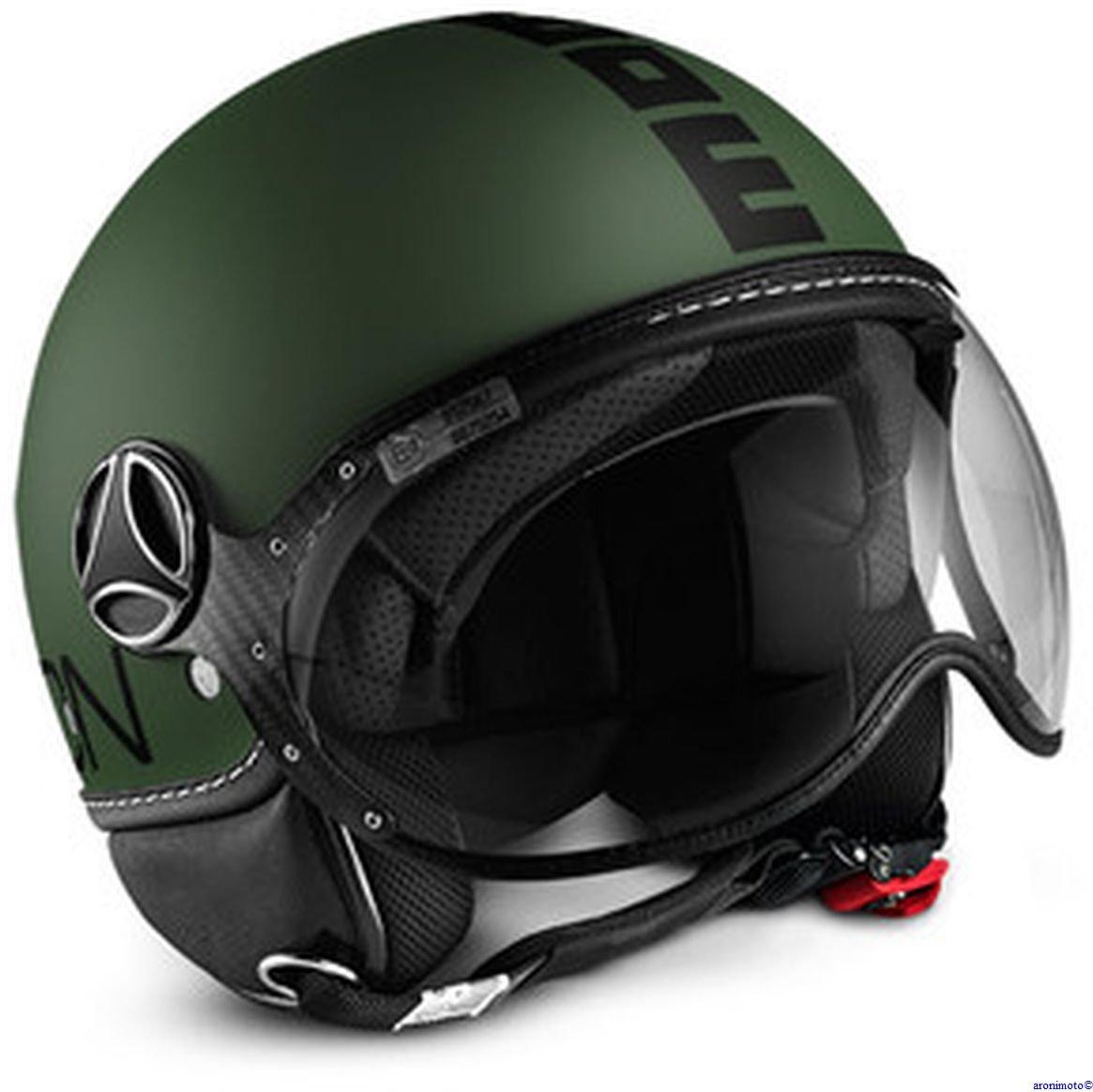 MOMO Design Casco CLASSIC Verde Militare Opaco Taglia M