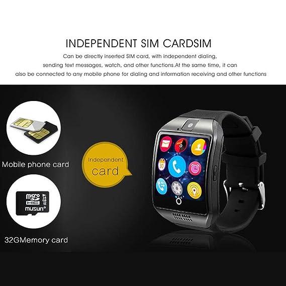 WOSOSYEYO Smart Watch Men Q18 con Pantalla táctil Cámara Grande ...