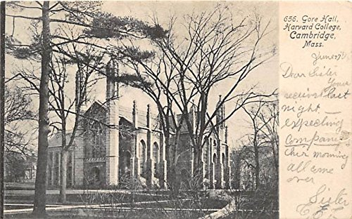 Gore Hall at Harvard University Library Cambridge Massachusetts Postcard ()