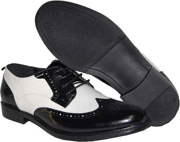 Krazy Shoe Artists Wingtip White Black