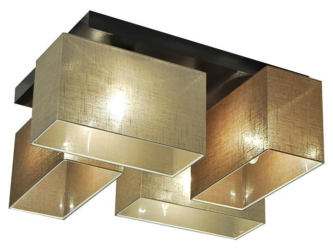 Plafoniere Con Base In Legno : Plafoniera illuminazione a soffitto jls br d in legno massiccio