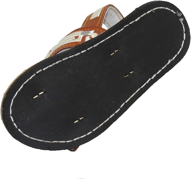 Bonus New Kids Leather Mexican Two Strap PITEADO Bordado Sandals Huarache