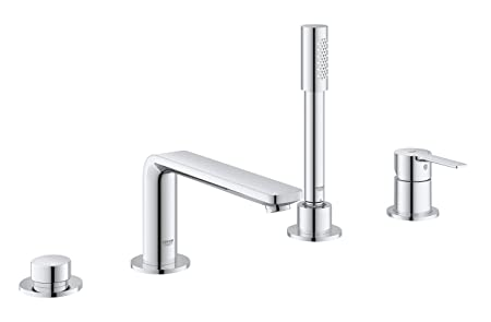 GROHE Lineare Four-Hole Bathtub Faucet with Handshowe