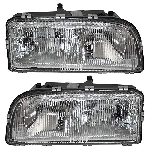 Lamp 850 Volvo - Driver and Passenger Headlights Headlamps Replacement for Volvo 91594127 91594135