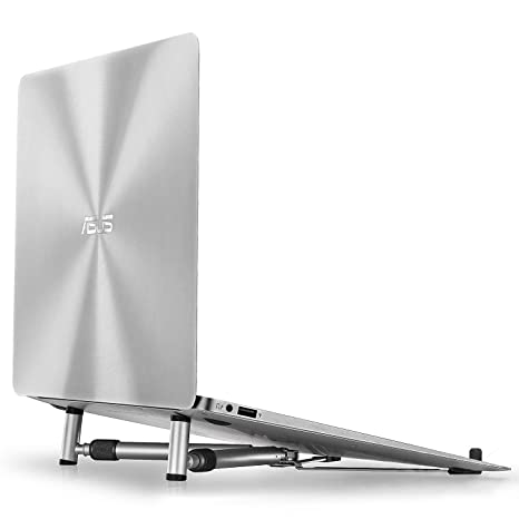Kingwon - Soporte portátil para ordenador portátil MacBook y PC, aluminio plegable, soporte universal