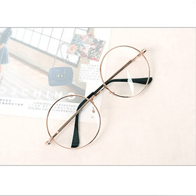 40035871a BuyWorld Women Men Retro Round Metal Frame Clear Lens Glasses Nerd  Spectacles Eyeglass Eye Glasses Frame for Women 2018 Vintage Solid:  Amazon.in: Clothing & ...