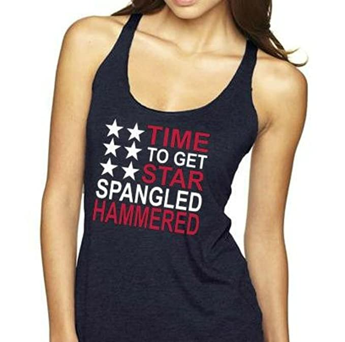 0c6cfba3 JP Designs Time To Get Star Spangled Hammered 4th of July Clothing for  Women Patriotic Tank