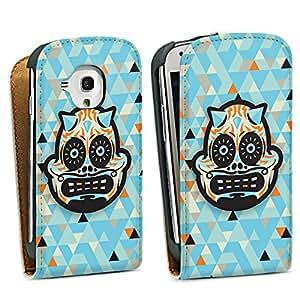Diseño para Samsung Galaxy S3 Mini I8190 DesignTasche Downflip white - Skull Demon