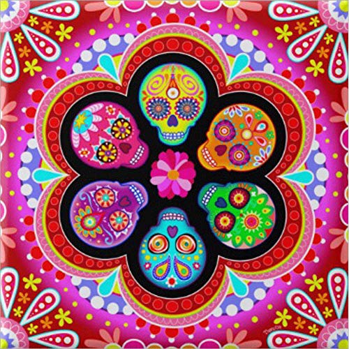DIY Full Drill Diamond Painting, 5D Embroidery Cross Stitch Art for Home Wall Decor Sugar Skull Flower 11.8 x -