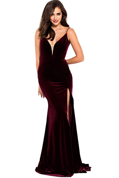 Jovani Prom 2018 Dress Evening Gown Authentic 57898 Long Burgundy At