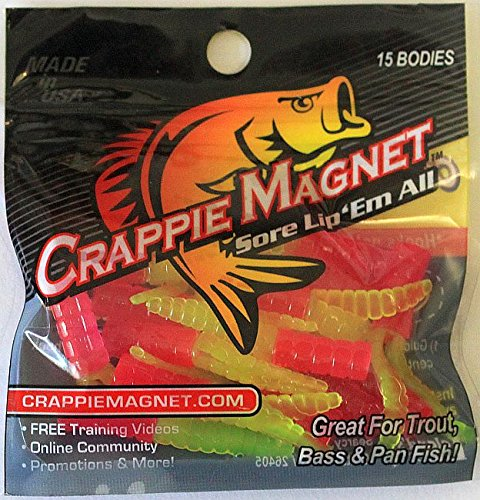 Leland's Lures Glow Org/Chart Crappie Magnets (15-Pack), 1 3/4-Inch Crappie Chart