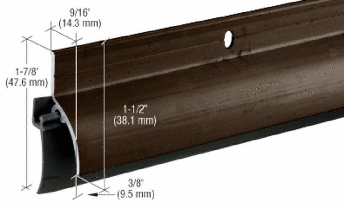 CRL Dark Bronze Finish Door Sweep-Rain Drip Combination for 36'' Door by CRL