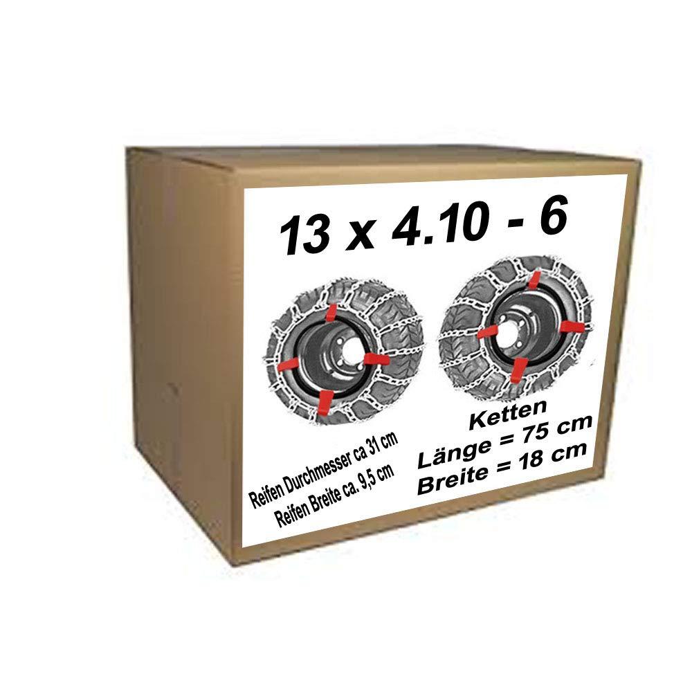 13x4.10-6 Schneeketten Spanner f/ür Rasentraktor Aufsitzm/äher Reifen Durchmesser ca.31 cm Reifen Breite ca 9,5 cm