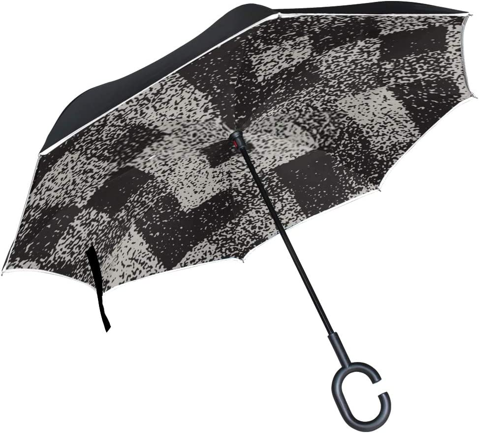 Double Layer Inverted Inverted Umbrella Is Light And Sturdy Abstract Noisy Textured Geometric Shapes Background Reverse Umbrella And Windproof Umbrel
