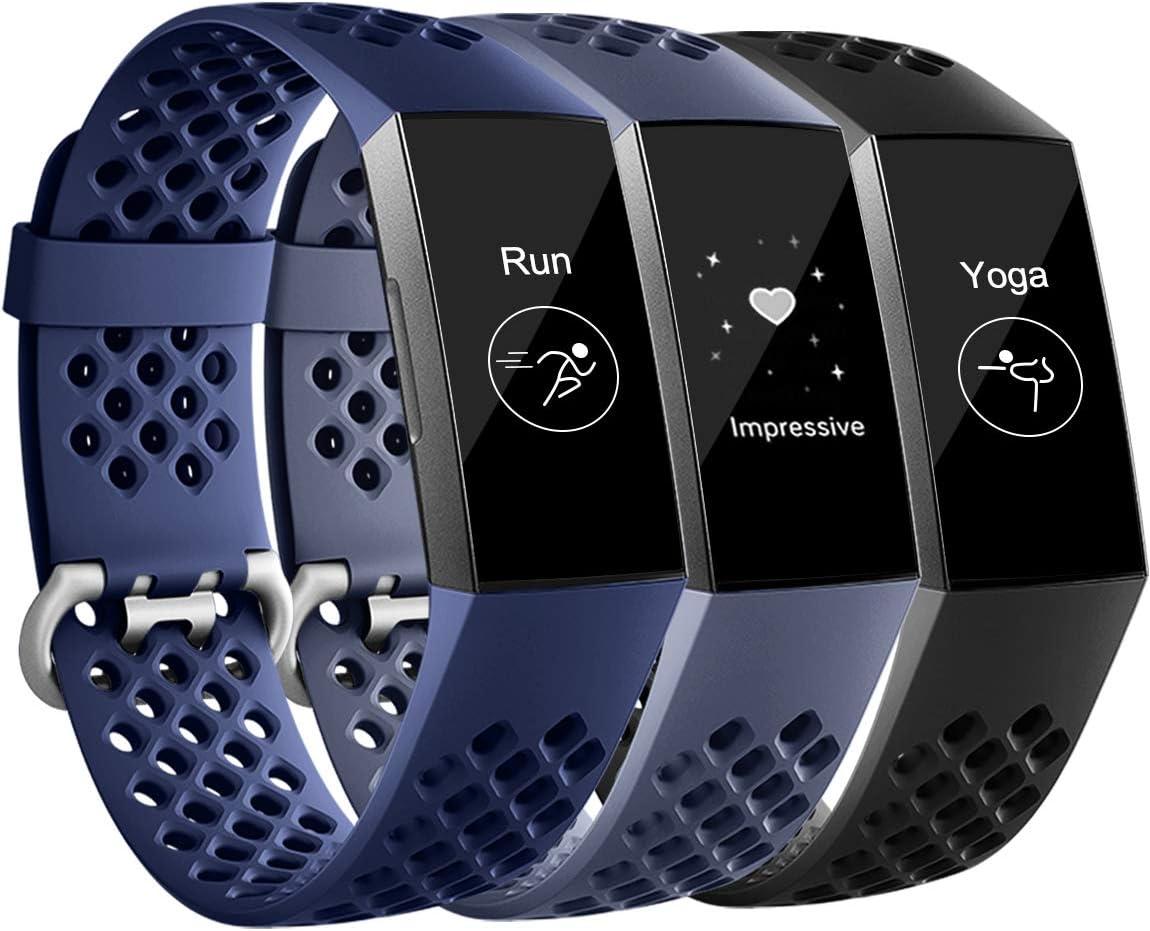 Mallas De Reloj Fitbit Charge 3 (xam)