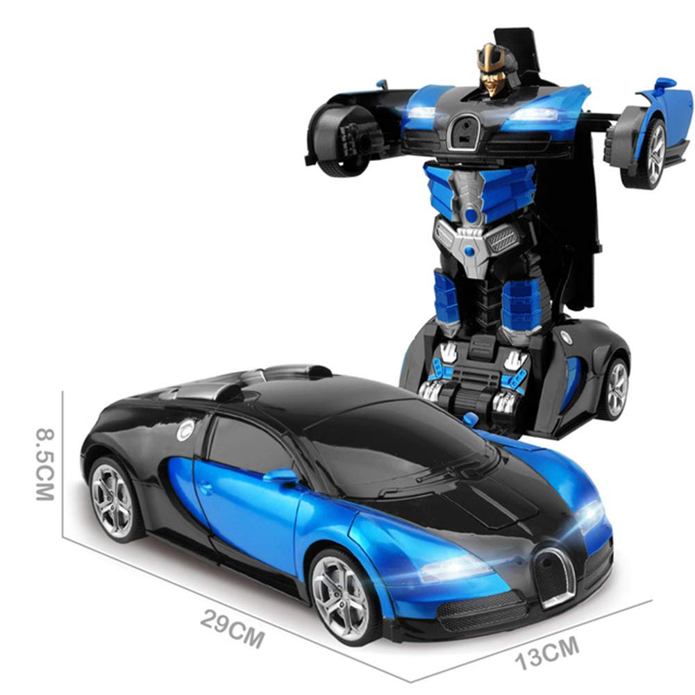 JIAAE Remote Control Car Gesture Sensing and Remote Control Transformers 1:14 Ratio Simulation Racing Car Model,Blue