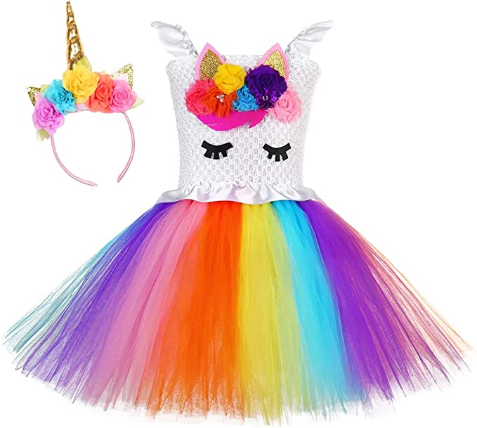 Amazon.com: Tutu Dreams - Disfraz de unicornio para niña de ...