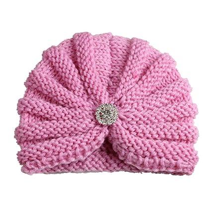 BZLine Bandeau bébé au Crochet, Bonnet Tricoté Mignon et Chaud Cadeau  Nouveau-né pour 65a09f1ce55