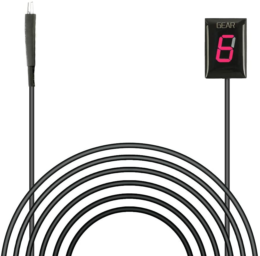 IDEA Waterproof Motorcycle Gear Indicator Plug & play Red LED Display (Kawasaki)