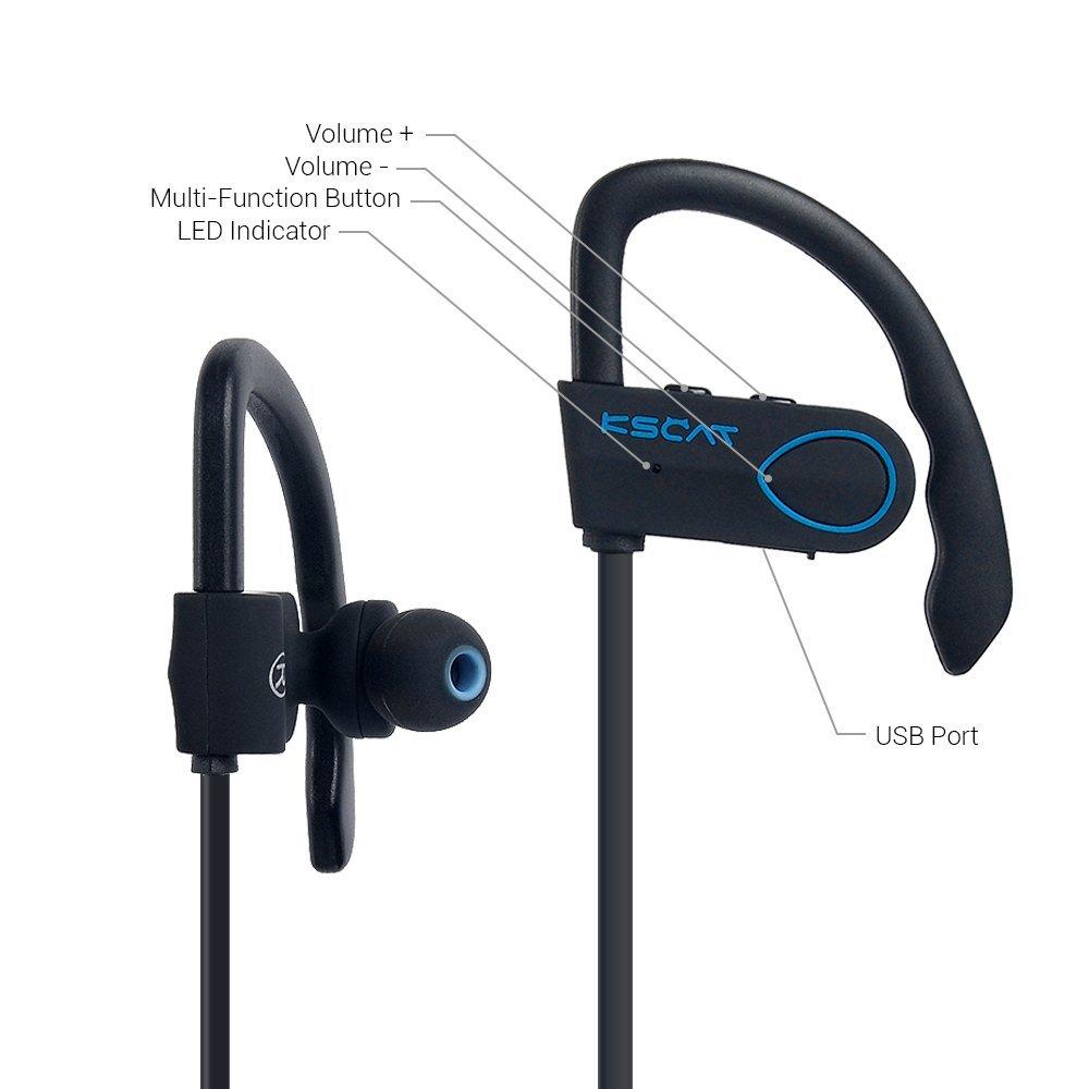 Bluetooth Kopfhörer 4.1 KSCAT BC 03 Ohrhörer Wireless Sport Earbuds Noise Cancelling Stereo Headset mit Mikrofon der Freisprechfunktion In-Ear-Kopfhörer für Handys iPhone iPad Laptops Smartphones
