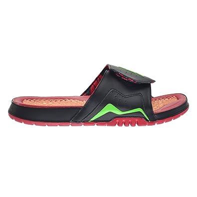 1ee0e7ba1249 Jordan Hydro VII Retro Mens  Slides Black Green Pulse-True Red-Bright