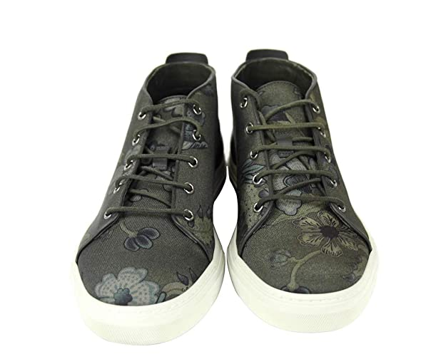 c40ecbca9 Amazon.com: Gucci Men's Green Lace-up Floral Fabric Fashion Sneakers 342048  3364: Shoes