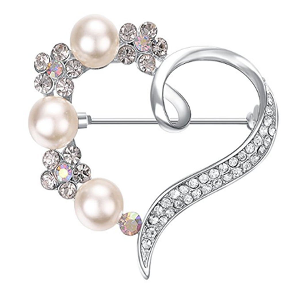 OPSLEA Perni Spilla Cristalli per Donne Spille Perla Elegante Cristalli per la Moglie Fidanzata Amante