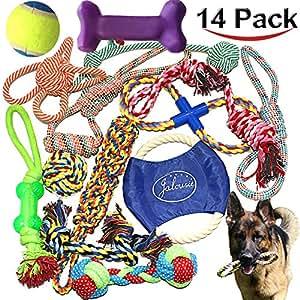 Pet Supplies : Jalousie 14 Pack Puppy Chew Dog Rope Toy