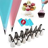 Cake Decorating kit, 20pcs Cake Decorating Tools Reusable Piping Bags and Tips for Cake Decorating Premium Cake Decorating Su