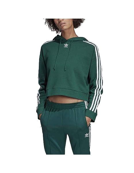 buy online 4283e 01ead adidas Originals DX2159 Felpa Donna Verde 44 Amazon.it Abbig