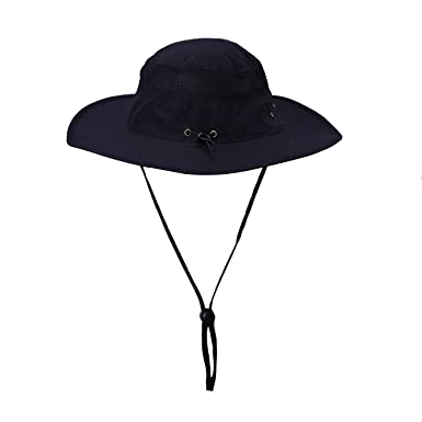 a61d98ce7a1 HDE Mens Mesh Bucket Hat Outdoor UV Sun Protection Wide Brim Booney Fishing  Cap