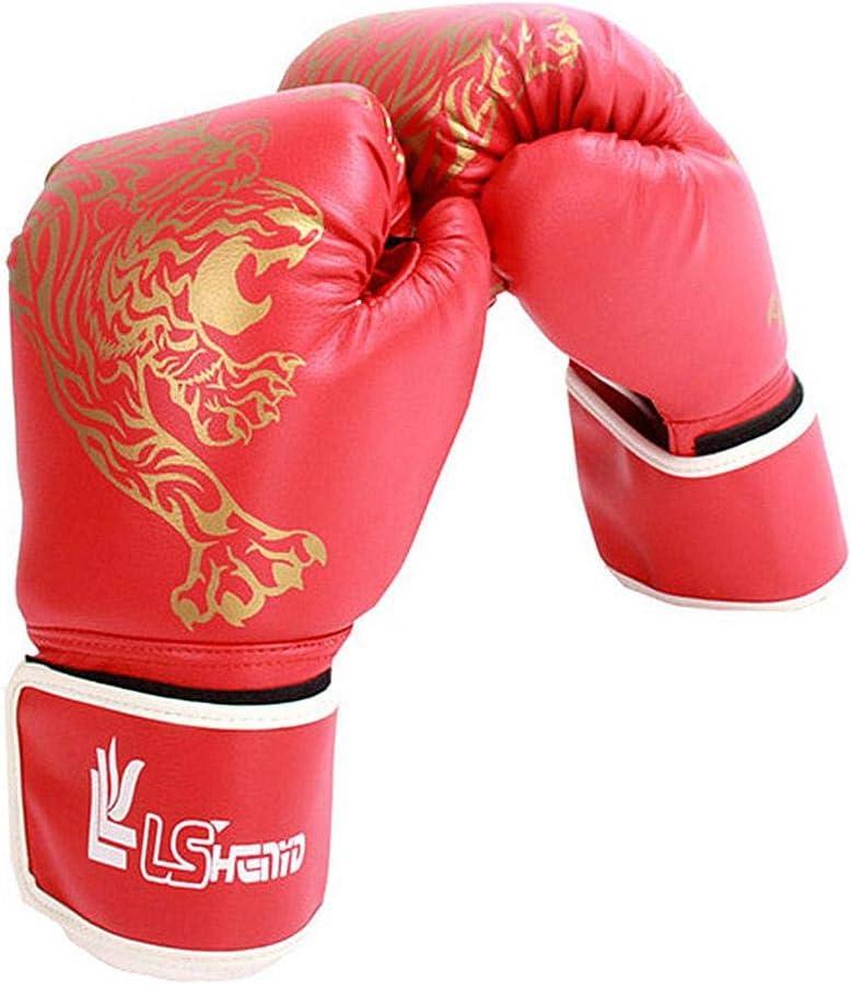 kickboxing 1 par saco de boxeo y almohadillas de foco qq Guantes de boxeo para entrenamiento de piel para adultos y ni/ños para sparring lucha