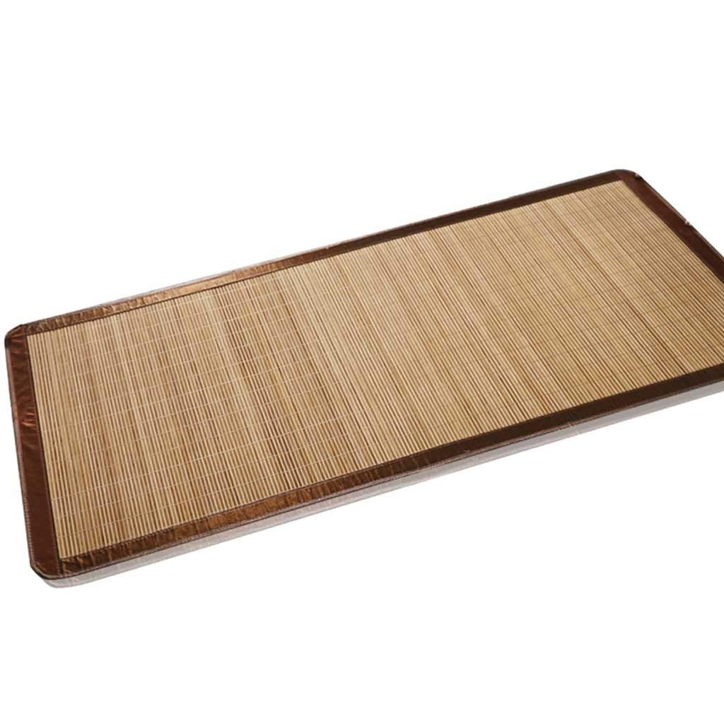 Dimensioni : 100 * 180cm Stuoia di bamb/ù Estate Fresca carbonizzato bamb/ù Naturale stuoia di Paglia Pieghevole a Doppia Faccia Mat
