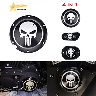 4 in 1 Skull Engine Derby Timer Cover For Harley Sportster Iron XL 883 1200 48 72 Brake Cylinder Cover Chain Inspection Cover ✔: Automotive