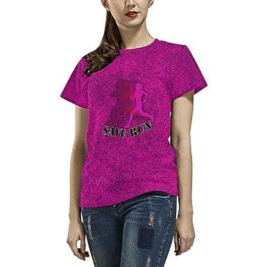 93930b94 Nicole Kiefer Design Save Run Short Sleeved All Over Print Polyester Tshirt  (XS)