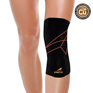 2f66086f79 KINETIC Copper Knee Compression Sleeve | Best Recovery Knee Brace, Copper  Fit Support for Runners