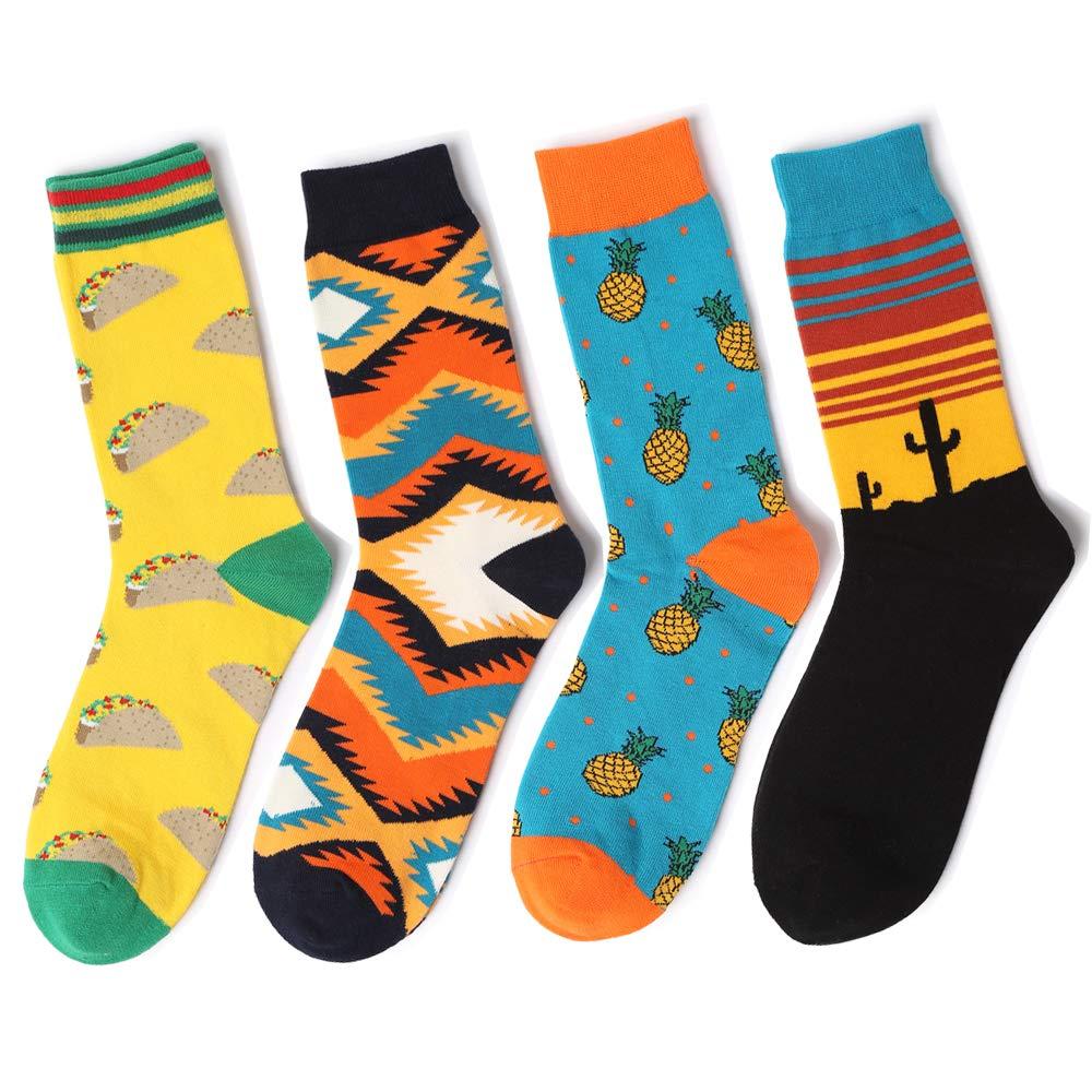 Men/'s Taco Socks COTTON Happy Novelty Sox Size 7-13 Unisex Fashion Funky Gift
