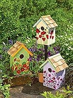 Floral Print Birdhouses, Set of 3