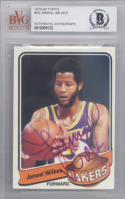 73d49ca33a8 Jamaal Wilkes Autographed 1979 Topps Card  35 Los Angeles Lakers Beckett BAS   10009122 -