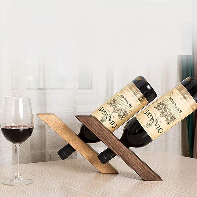 GF - Botellero de Madera Maciza de Nogal Negro para salón o Vino ...
