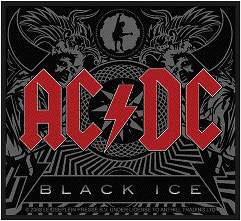 """AC//DC PATCH 3.75/"""" Iron-on Classic Rock Music Embroidered acdc New patches"""