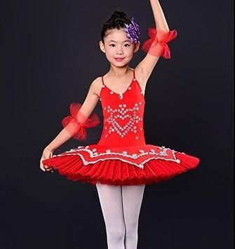Trajes de Ballet de los niños Ballet Danza Falda niña Traje ...