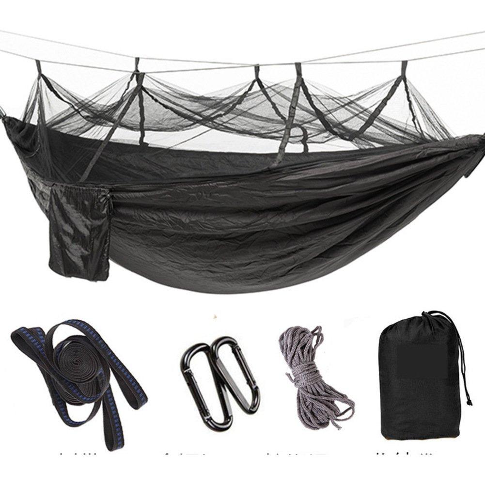 DIAOHXY Portable Hängematte für 2 Personen Moskito Netz,Schaukel Parachute Hängematte Wasserdicht Hinterhof Wandern-D