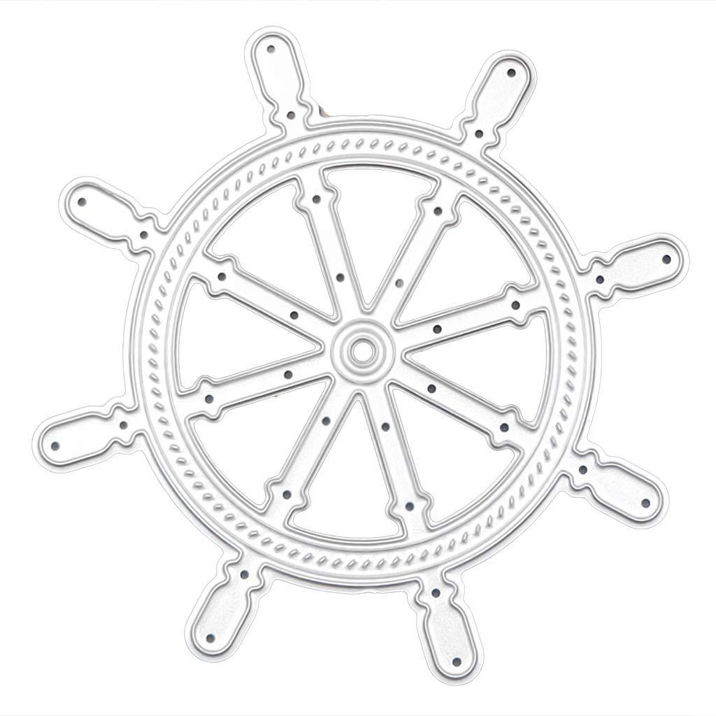 Selma stencil per goffratura scrapbooking Fustelle in acciaio con timone decorazioni fai da te