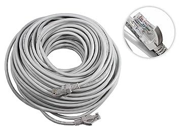 vetrineinrete® Cable Red LAN Ethernet RJ45 Cat 5e UTP Cable alargador 30 metros cablato categoria