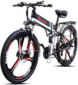 Shengmilo Bicicletas Electricas Bicicleta Plegable e-Bike Montaña ...