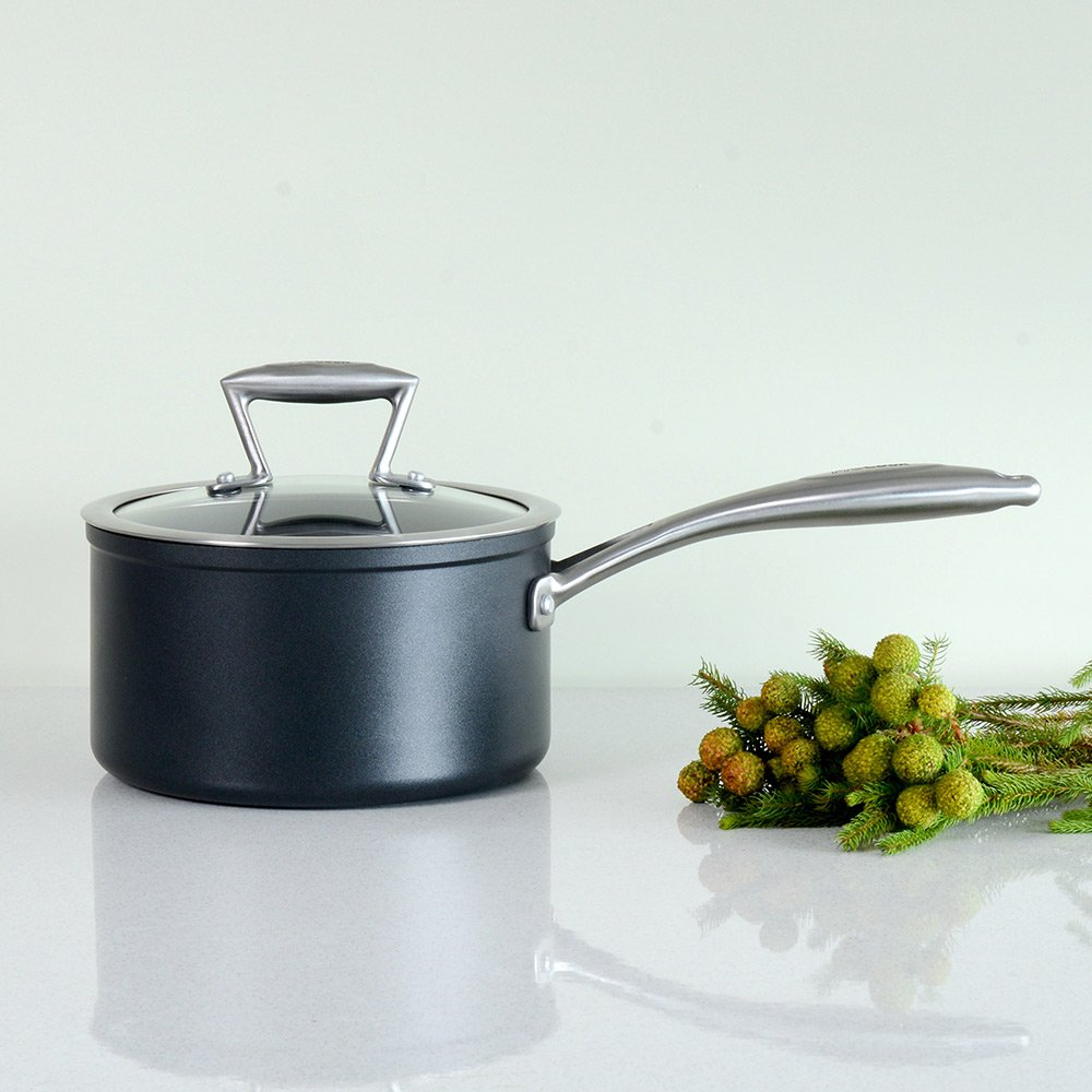 ProCook Elite Forged Non-Stick Induction Saucepan with Lid 16cm 1.8L